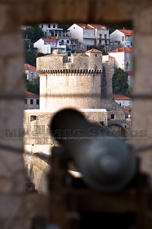 A view of the Minceta Tower from Fort Lovrjenac in Dubrovnik.