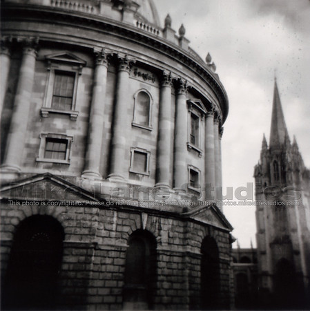 Radcliffe camera taken with a Holga